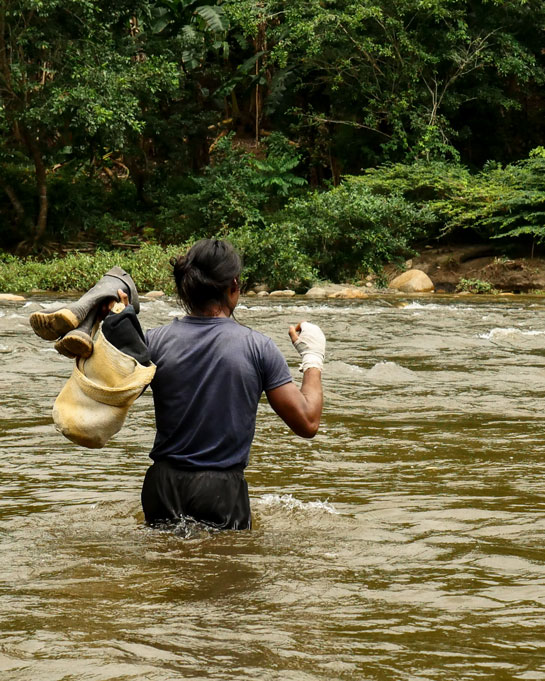 Historia de una excursión a las montañas sagradas en Colombia
